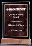 Acrylic Award with a Ruby Marble Center Acrylic Awards | Acrylic Trophies