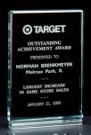 Classic Series 1 Thick Free-standing Acrylic Award. Acrylic Awards | Acrylic Trophies