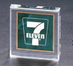 Emerald Marble Square Acrylic Paper Weight Acrylic Awards | Acrylic Trophies