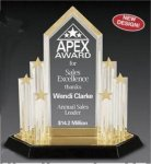 Star Acrylic Trophy Award with Engraved Center Piece Acrylic Awards | Acrylic Trophies