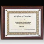 Walnut Screw Down Certificate Plaque Acrylic Awards | Acrylic Trophies