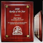 Piano Plaque with Floating Acrylic Face Acrylic Awards | Acrylic Trophies