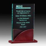 Jade Acrylic Award with Rosweood Base Acrylic Awards | Acrylic Trophies